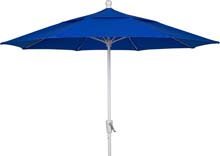 9' Pacific Blue Terrace Umbrella - White Finish - Crank Lift FB-9TCRW-PACIFIC