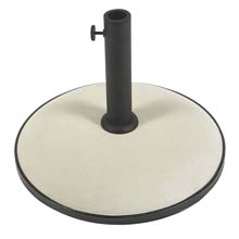 "19"" dia. Concrete Umbrella Base - White FB-CB19W"