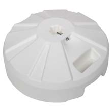"16"" dia. Plastic Umbrella Base - White"