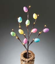 Easter Egg LED Lighted Branch - Battery Operated