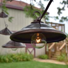 Bronze Metal Patio String Lights