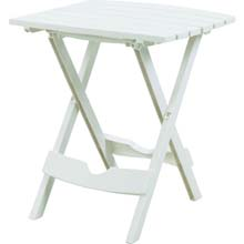 Quik-Fold White Patio Side Table