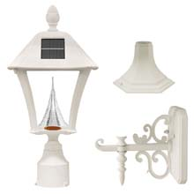 Baytown Series White Solar Lamp