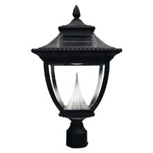 Pagoda Solar Pole Mount Lamp