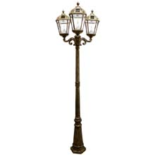 Royal Triple Lamp Post Solar Light