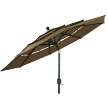 3-Tier Dark Brown Patio Umbrella