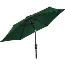 7.5' Green Canopy Aluminum Patio Umbrella