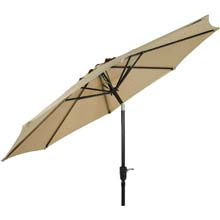 9' Tan Aluminum Tilt Patio Umbrella