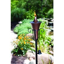 5' Bronze Metal Patio Torch