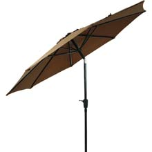 9' Brown Aluminum Tilt Patio Umbrella