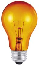 Amber 25W Medium Decorative Light Bulb