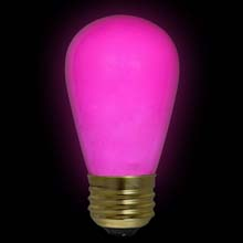 Pink Ceramic Commercial Light Bulb - 11 Watt S14 Medium Base  B11S14-PKC