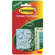 Command Outdoor Light Clips Foam Strips - Clear - 16 Count 242712
