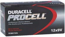 "Duracell PROCELL Alkaline Batteries - Size ""9V"""