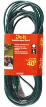 40' Landscape Extension Power Cord - 16/3 - Green