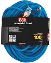 Extension Power Cord - 100 Foot - 12 Gauge 3 Wire