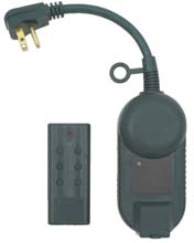 Outdoor Grounded Outlet Timer w/ Wireless Remote Control On/Off Switch