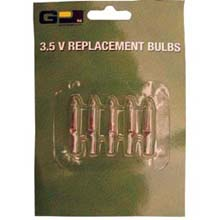 Replacement 3.5V Stringlight Bulbs - 5-Pack - Clear