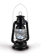 Black LED Railroad Hurricane Camping Lantern
