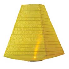 Battery Operated Nylon Trapezoid Shade Lantern - Yellow - 11""