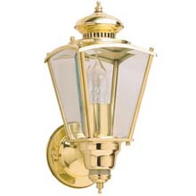 Polished Brass Coach Motion Light