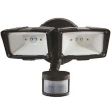 Twin Motion LED Floodlight - Bronze