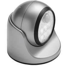 Silver LED Porch Motion Floodlight