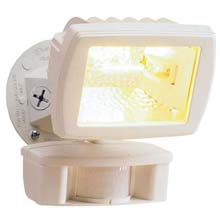 White Quartz Motion Floodlight