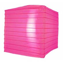 "Hot Pink 10"" Square Nylon Lantern"