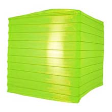 "Neon Green 10"" Square Nylon Lantern"