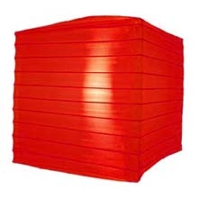 "Red 10"" Square Nylon Lantern"