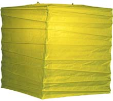 "Chartreuse Green 10"" Square Rice Paper Lantern"