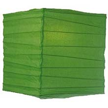 "Grass 10"" Square Rice Paper Lantern   LSQGR"