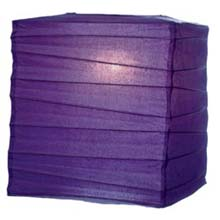"Purple 10"" Square Rice Paper Lantern  LSQPI"