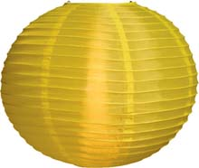 "Lemon 14"" Round Nylon Lantern"