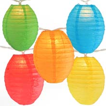 Kawaii Shaped Multi-Color Paper String Light Lanterns