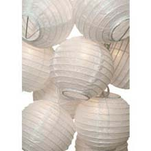 White Flatpack Paper String Light Lanterns L50F
