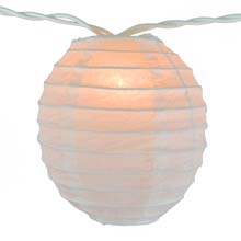 Kawaii Shaped White Paper String Light Lanterns
