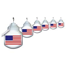 American Flag 6 Globe String Light Set