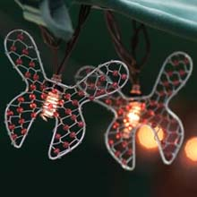 Beaded Wire Butterfly Party String Lights
