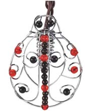 Beaded Wire Ladybug Lantern Party String Lights