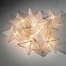 White Stars Party String Lights L720
