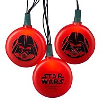 Star Wars Darth Vader String Lights - Battery Operated - 10 Lights SW9123