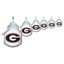 Georgia Bulldogs Six Globe String Light Set