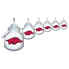 Arkansas Razorbacks Six Globe String Lights