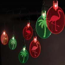 Tropical Island Silhouettes Party String Lights