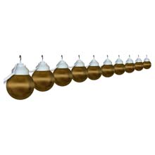 Ten Globe Prismatic Bronze String Light Set