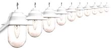 Clear Savannah Globe String Light Set - White Housing