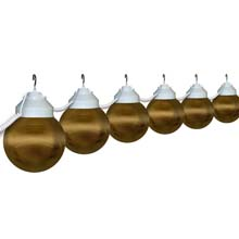 "6"" Bronze Prismatic Globe String Lights"