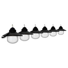 Six Globe String Light Set - Black